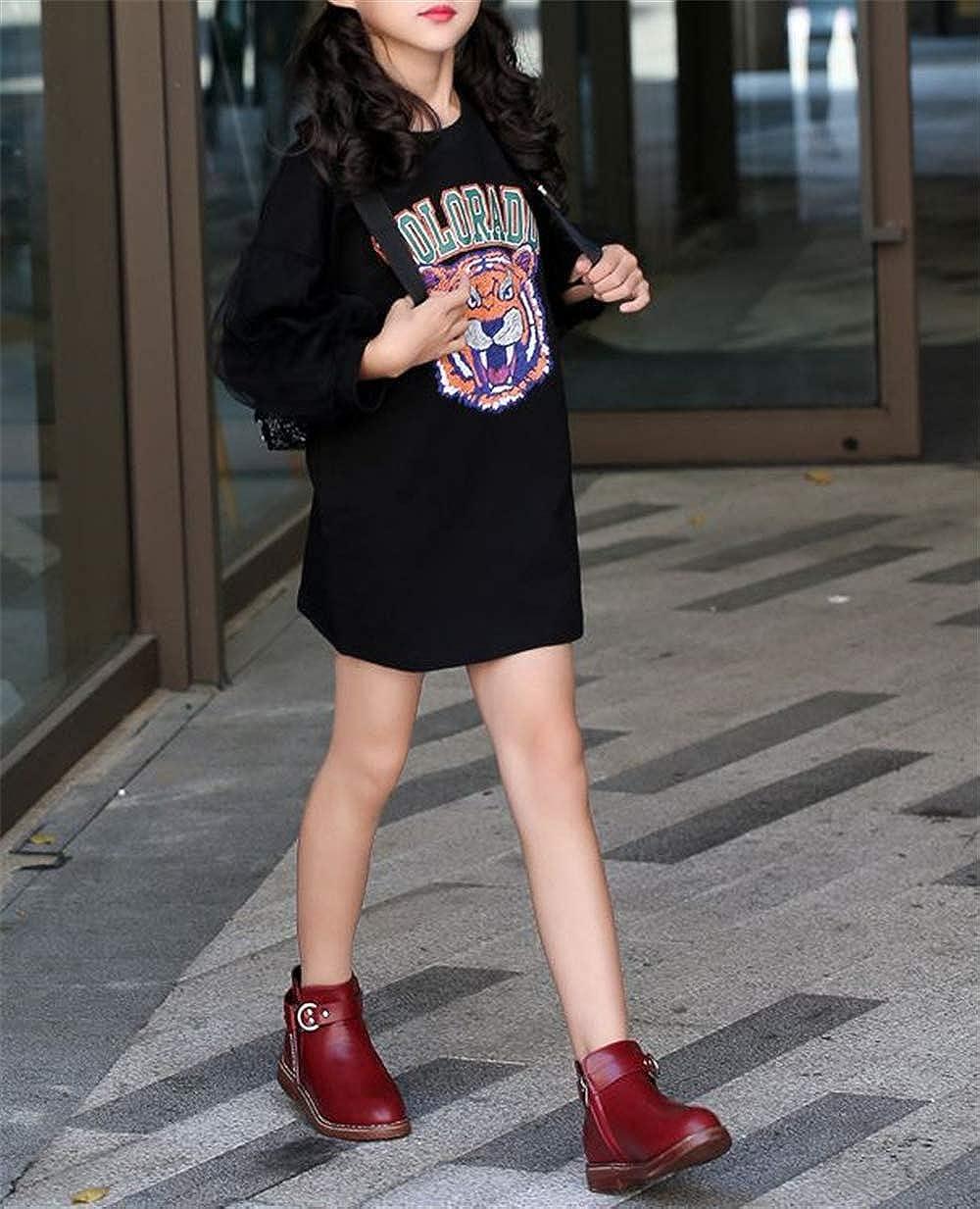 Dress Boot Little//Big Kids Fancyww Baby Girls Ankle Bootie Buckle