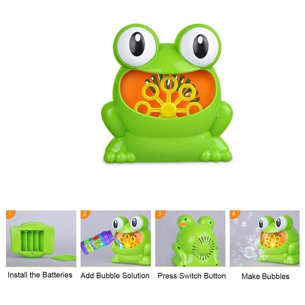 Qwhome Machine Bulles Grenouille Automatique Bec Laver Elc Froggie Bubble Blower 139401 Bain Douche Enfants Amusement Jouet Garon Fille Sports Et Loisirs