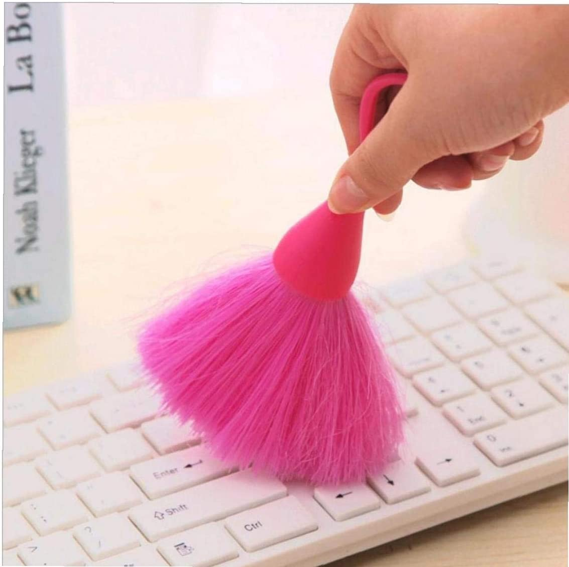Random Color Keyboard Mini Brush Anti-Static Screen Cleaning Broom Whisk with Hanging Ring