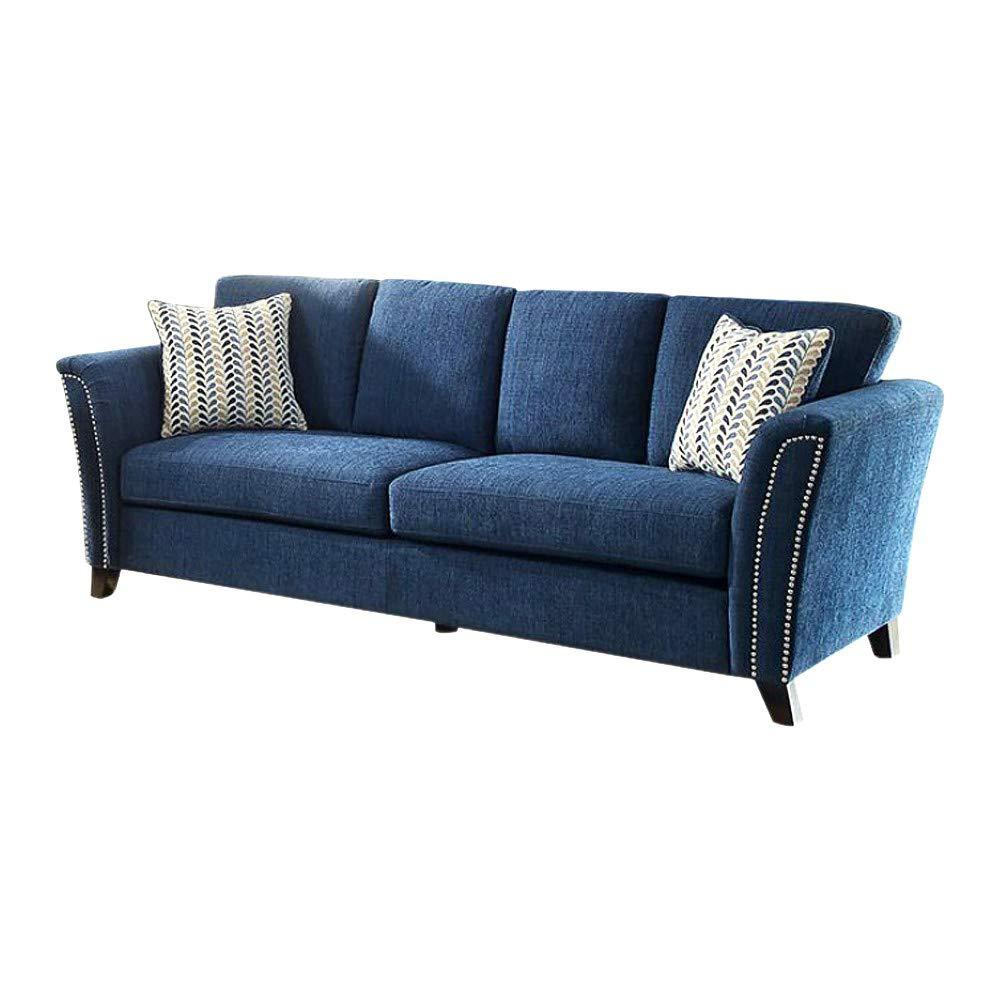 Amazon.com: Benzara BM137993 Contemporary Style Sofa with Nail Trim ...