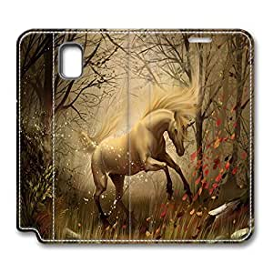 Brian114 Samsung Galaxy Note 3 Case, Note 3 Case - Customized Leather Case for Samsung Note 3 Beautiful Horse Protective Stand Leather Case for Samsung Galaxy Note 3