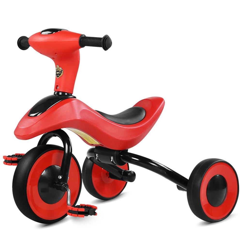 XQ 折りたたみ可能 軽量 耐衝撃性 子供 1-3歳 トロリー ベビーキャリッジ 赤 子ども用自転車 B07C6Q8VRM