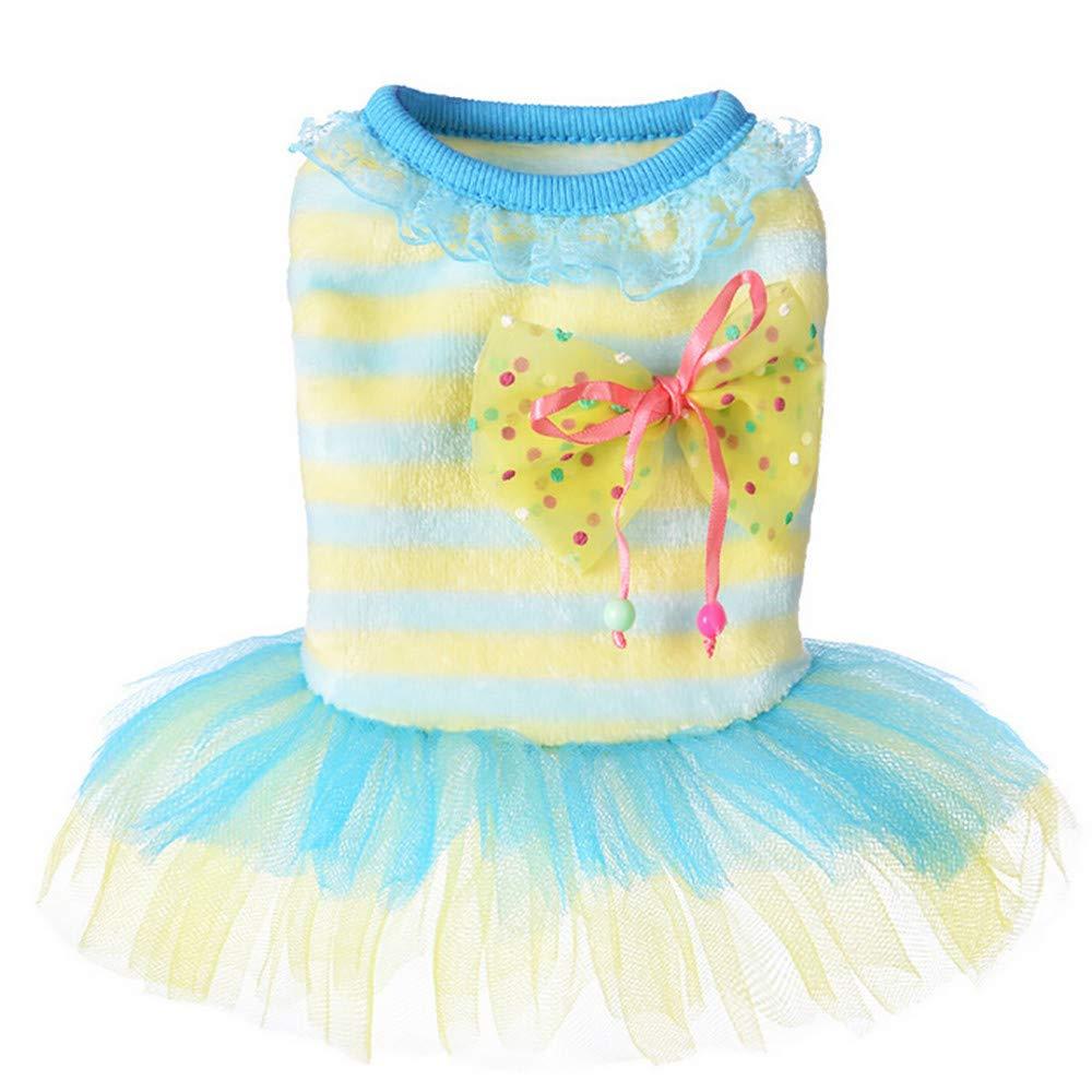 Puppy Clothes WensLTD Small Dog Cat Pet Tutu Lace Dress Pet Puppy Dog Elegant Princess Dress for Pet