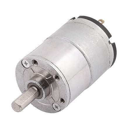 sourcingmap GA32RI DC 12V 500rpm 6mm Diámetro del eje del Motor de la caja de reducción
