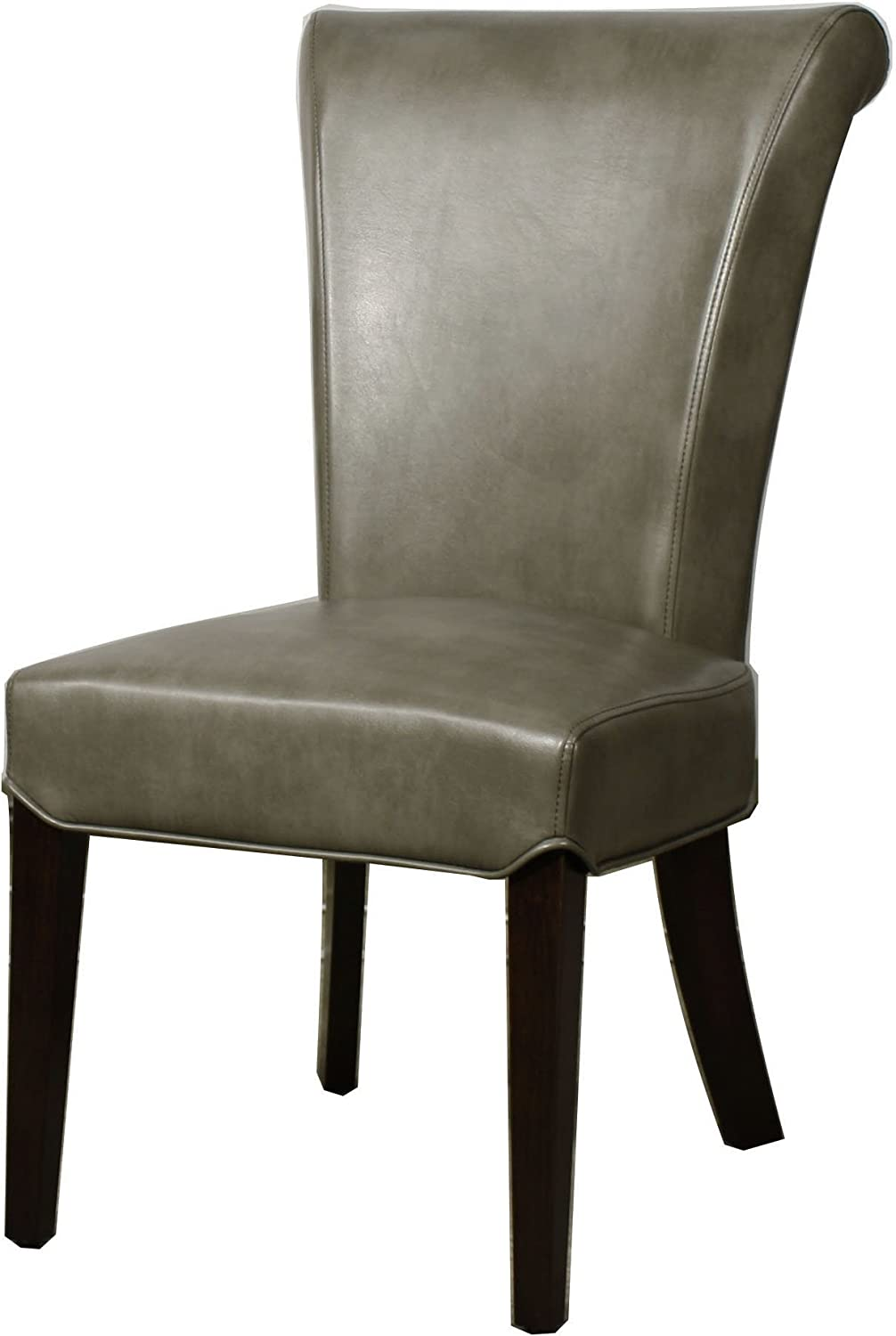 New Pacific Direct Bentley Bonded Leather Chair,Set of 2 Furniture, Quarry Gray