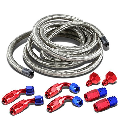 DNA Motoring ALUFTACCSL Fuel Cell Gas Tank Line+Fittings (Fuel Line Fittings Kit)