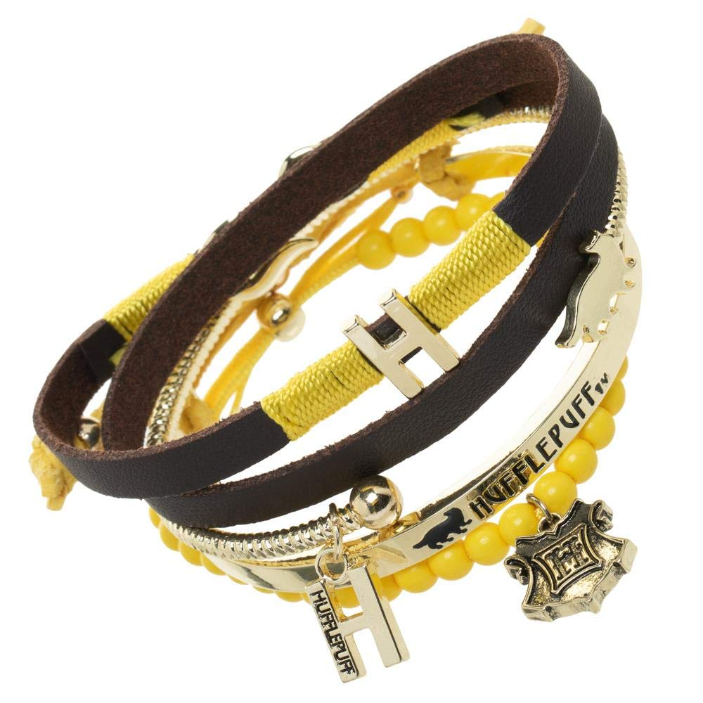 Harry Potter Hufflepuff Bracelet Set - 4 Pack