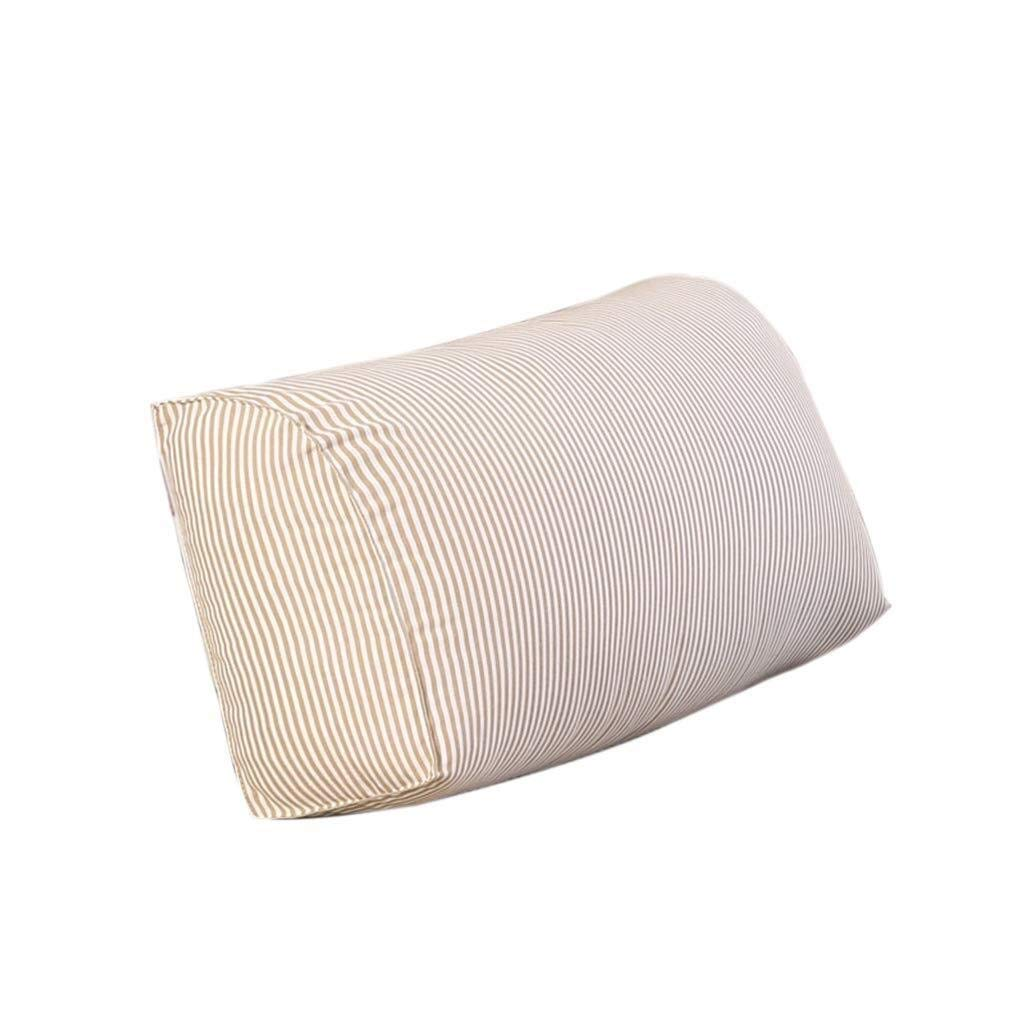 Bbhhyy Triangular Wedge Bedside Back Cushion,Comfortable Striped Pillow,Sofa Bed Pillow Waist Rectangle Cushion Household Cushion(Solid Color) (Color : Red Stripes, Size : 653018CM) by Bbhhyy