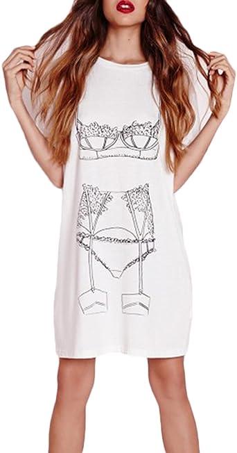 HaiDean Otoño Vestido Mujer Vestido De Camisa Único Impresión ...