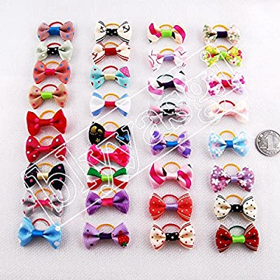 Blyyasgi (TM) 20 X Puppy Dog Cute Hair Bows Pets for Grooming Pet Charms Hair Accessories
