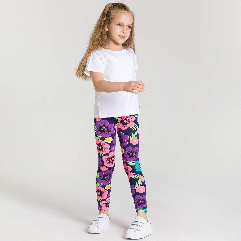 Adorel Leggings Stretch Stampa Calzamaglie Bambina 3 Pack