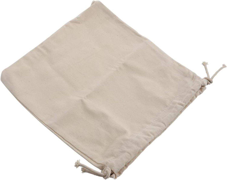 Women Girls Solid White Drawstring Beam Port Shopping Bag