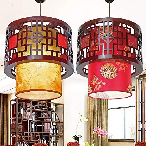Round Wood Pendant Light in US - 3