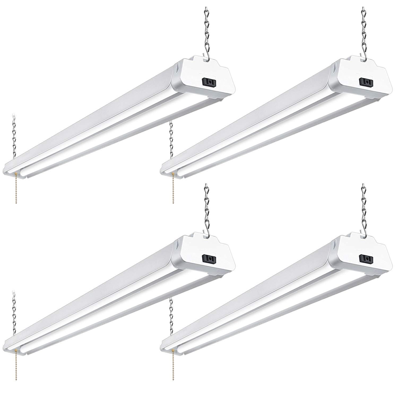 Led shop light for garages 4ft 42w 5000k daylight led ceiling lights hykolity linkable led strip shop lights workshop lighting hanging or