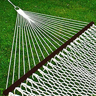 Best Choice Products 2-Person Woven Cotton Rope Double Hammock for Backyard w/Spreader Bars, Carrying Case