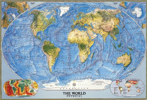 Map Floor - National Geographic RE00622010 World Physical-Ocean Floor Map