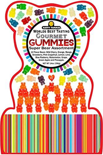 Happy Yummies Worlds Best Tasting Gourmet Gummies MOM Bag 14oz