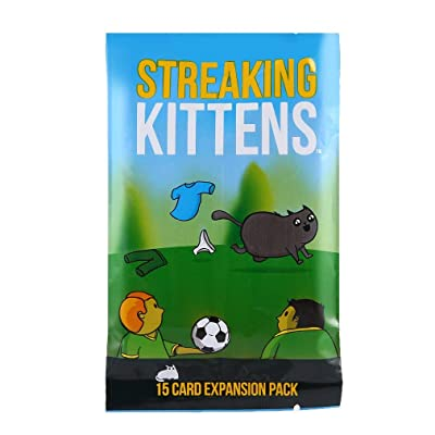 Topclouds Streaking KittensThis is The Second Expansion of Exploding Kittens Party Desktop Game Set: Garden & Outdoor