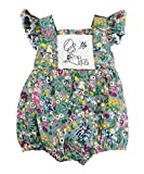 Baby : Sassy Smock Gray Floral Smocked Girl's Bubble Romper (12 Months)