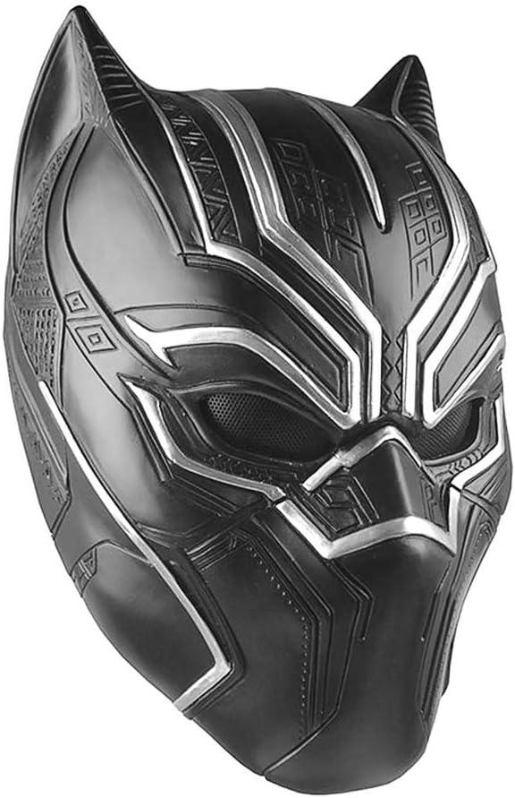 Máscara de látex negra para cosplay de Pantera negra para hombres ...