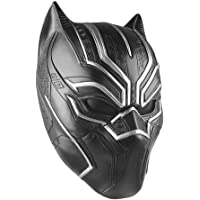 Lackingone Masque en Latex Noir panthère Cosplay Mask Noir Adulte Homme