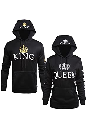 Couple Femmes Amazon Occasionnel Capuche King Les Sweat Queen Pull OPqwC6