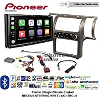 Volunteer Audio Pioneer AVH-2440NEX Double Din Radio Install Kit with Apple CarPlay, Android Auto and Bluetooth Fits 2003-2004 Infiniti G35 (Pewter) (Single zone A/C controls)
