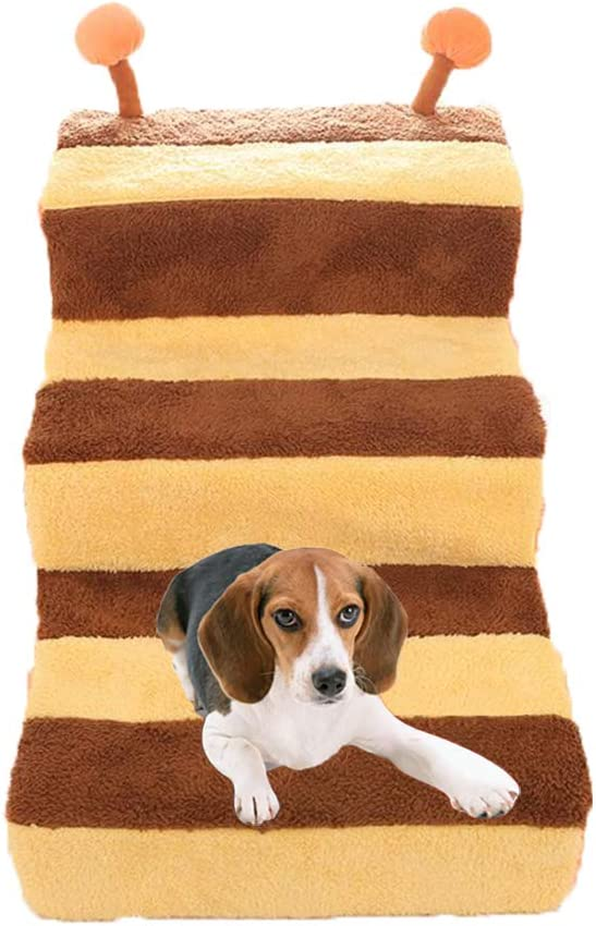 FXQIN Escalera portátil para Mascotas Pasos para Perros Escalera de 3 escalones Escalera Interior con Franela extraíble Rampa Interior para Gatito Gato, Lavable: Amazon.es: Hogar