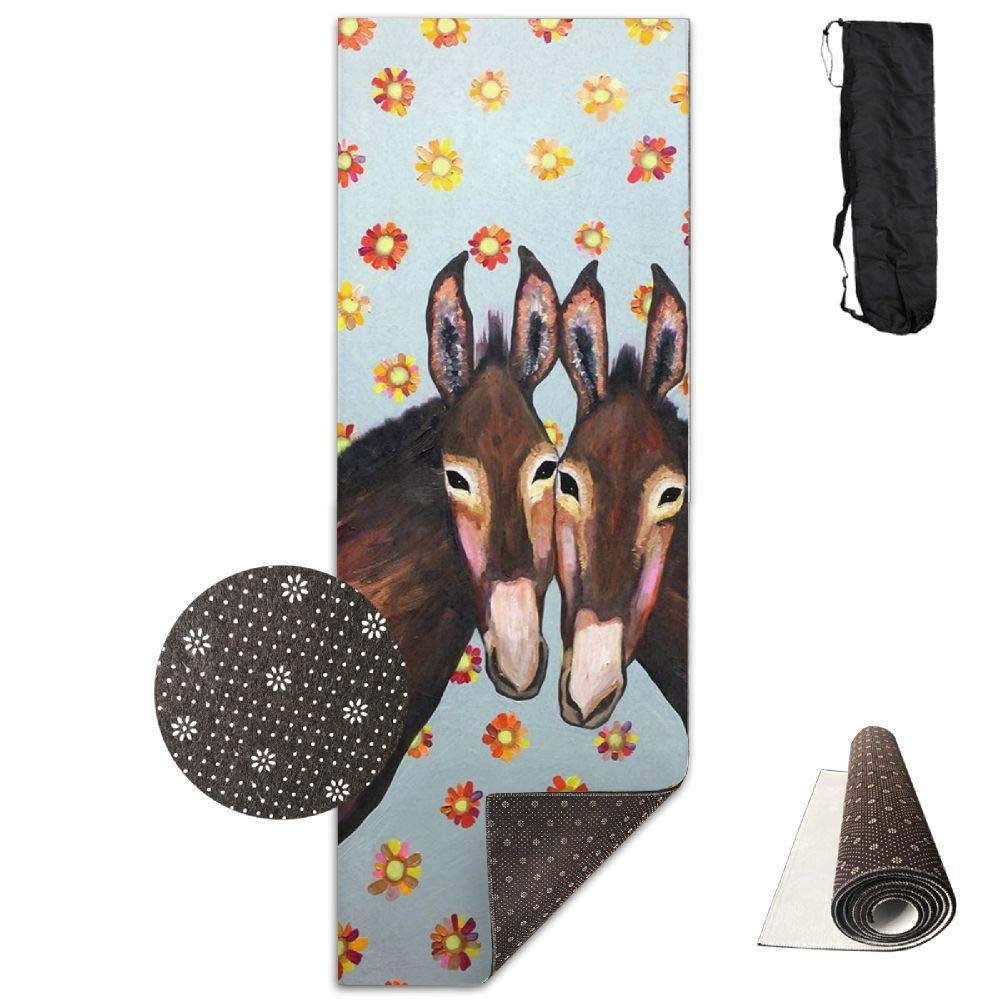 Donkey Love Oil Painting.jpg and Optimal Cushioning,70''x 28'' Waterproof Yoga Mats Fitness