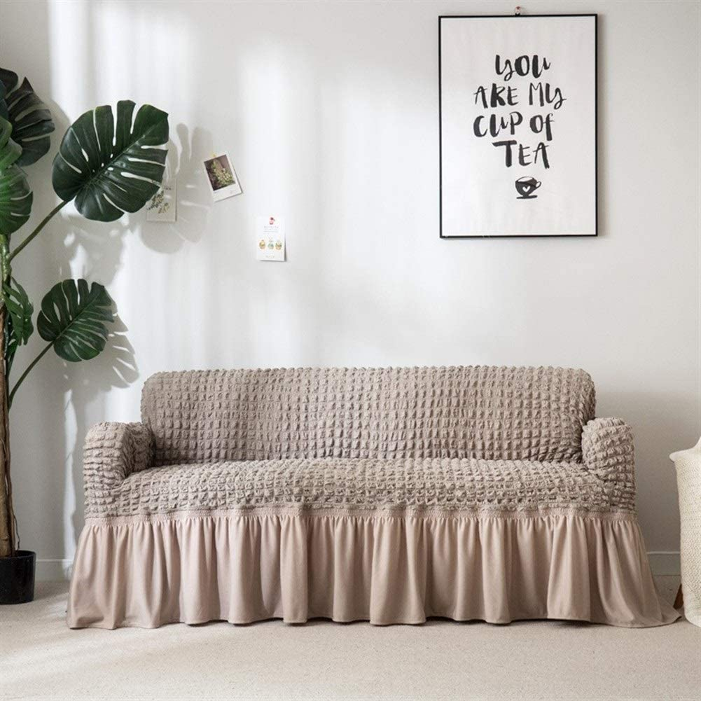 W-L Elastico Copridivano Jacquard Fodera Divano con Gonna Poltrona Divano Covers Living Room Furniture Protector Sofa Cover Elastico Color : Beige, Size : A B 70 120cm