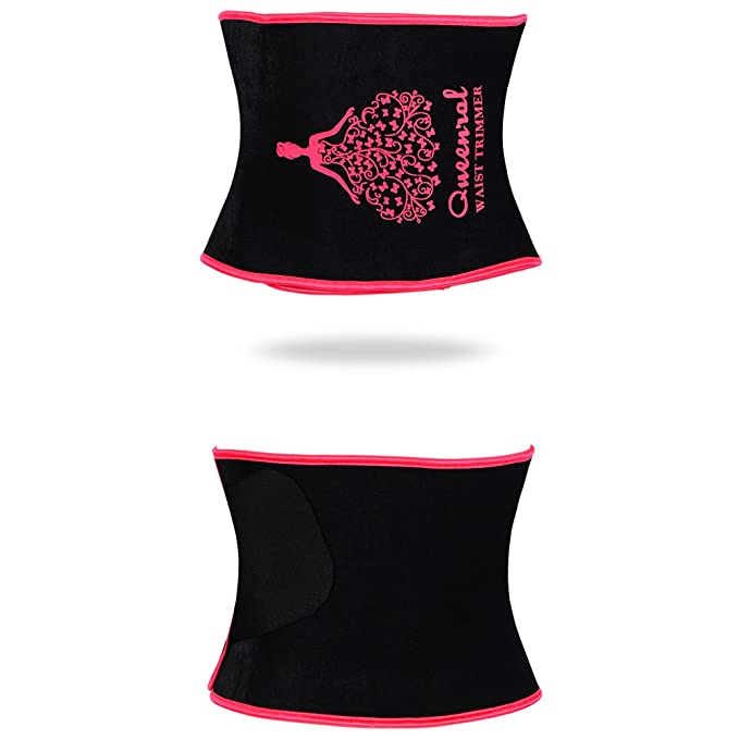 24069f3793 Queenral Waist Cincher Tummy Trimmer Trainers Belt Weight Loss Slimming  Women Workout Corset Pink at Amazon Women s Clothing store