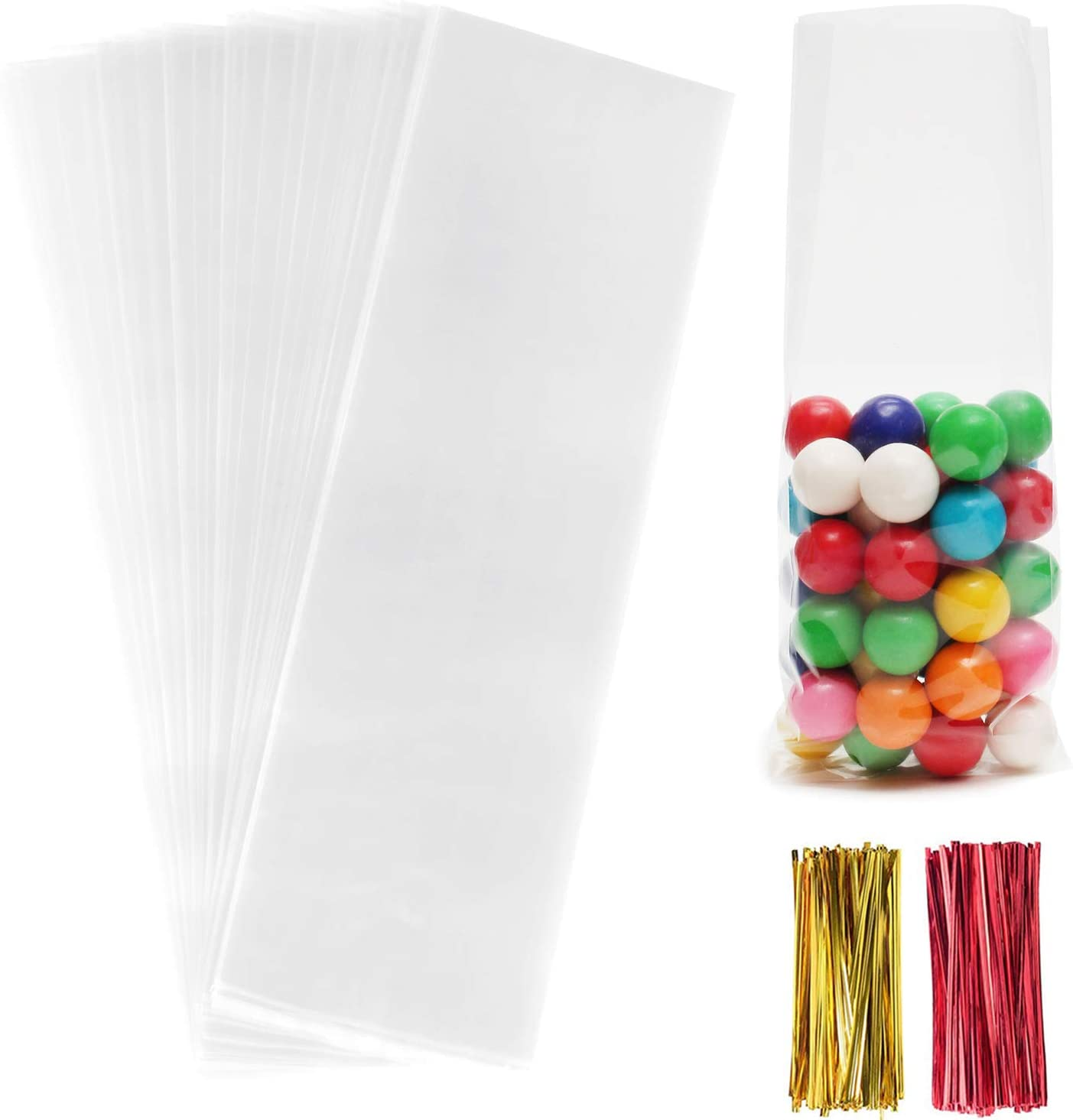 Christmas Cellophane Treat Bags,200 Pcs 3