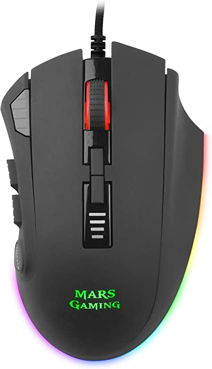 Mars Gaming MM418, Ratón Gaming RGB 3200DPI, Sensor Óptico, 12 botones, Negro: Mars-Gaming: Amazon.es: Informática