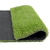 Indoor/Outdoor Green Artificial Grass a Natural Lawn Landscape Fake Grass Artificial Anti-wear Turf Tiles(Autumn color) (3.3'x3.3')