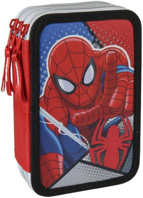 Estuche Plumier de Tres Pisos de Spiderman Original Giotto Hogar y Más: Amazon.es: Hogar