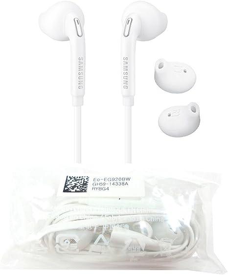 Samsung Eg920 Auricolari Originali In Ear Galaxy S6 Edge Sm G925f Tappi Per Le Orecchie Spina Da 3 5 Mm Suono Stereo Bianco Amazon It Elettronica