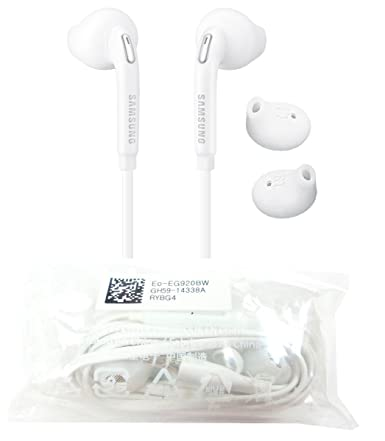 Amazon.com: Samsung Eo-Eg920Bw White Headset/Handsfree/Headphone/Earphone With Volume Control For Galaxy Phones (Non Retail Packaging - Bulk Packaging): ...