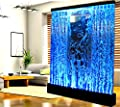 Fountain Bubble Wall Display Panel 6.5 Feet Square Free Standing Multi Color LED Light Restaurant Bar Club Entry Foyer Model SDP50