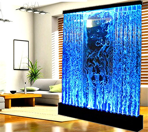 Fountain Bubble Wall Display Panel 6.5 Feet Square Free Standing Multi Color LED Light Restaurant Bar Club Entry Foyer Model SDP50 - Bubble Club