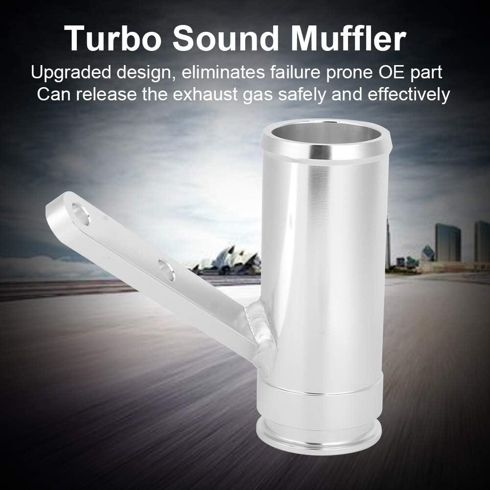 Akozon Car Exhaust Pipe Silencer Turbo Eliminator Sound Muffler Aluminium Alloy Fit for Sprinter Van Upgrade 2004 2005 2006