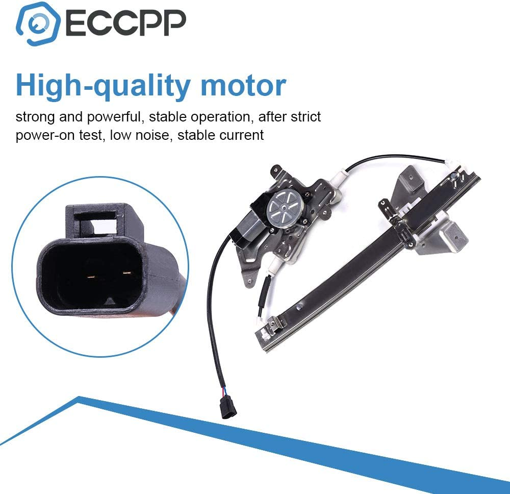 Regulador de Elevalunas El/éctrico Trasero Derecho Accesorio Lateral del Pasajero para E90 3 Series 4 Puerta 51357140590 Elevalunas