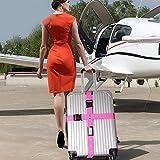 K&C Luggage Straps Suitcase Belt Travel Accessories Multi-Bag Stacker Pink