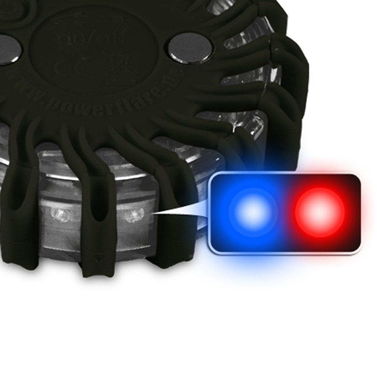 Powerflare LED Batterie Warnleuchte in rot