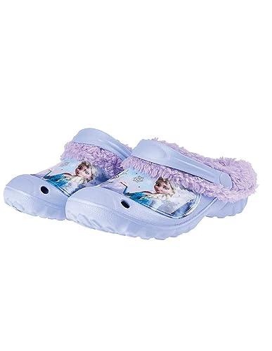 fee86b8ff5b La Reine des Neiges Sabots - Crocs fourrés Enfant Fille Bleu Violet du 24 au