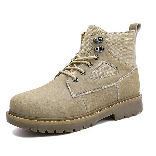 Botines de Moda para Hombre Botines de Trabajo Personalidad Casual Empalme Invierno Faux Fleece Inside High Top Boot: Amazon.es: Zapatos y complementos
