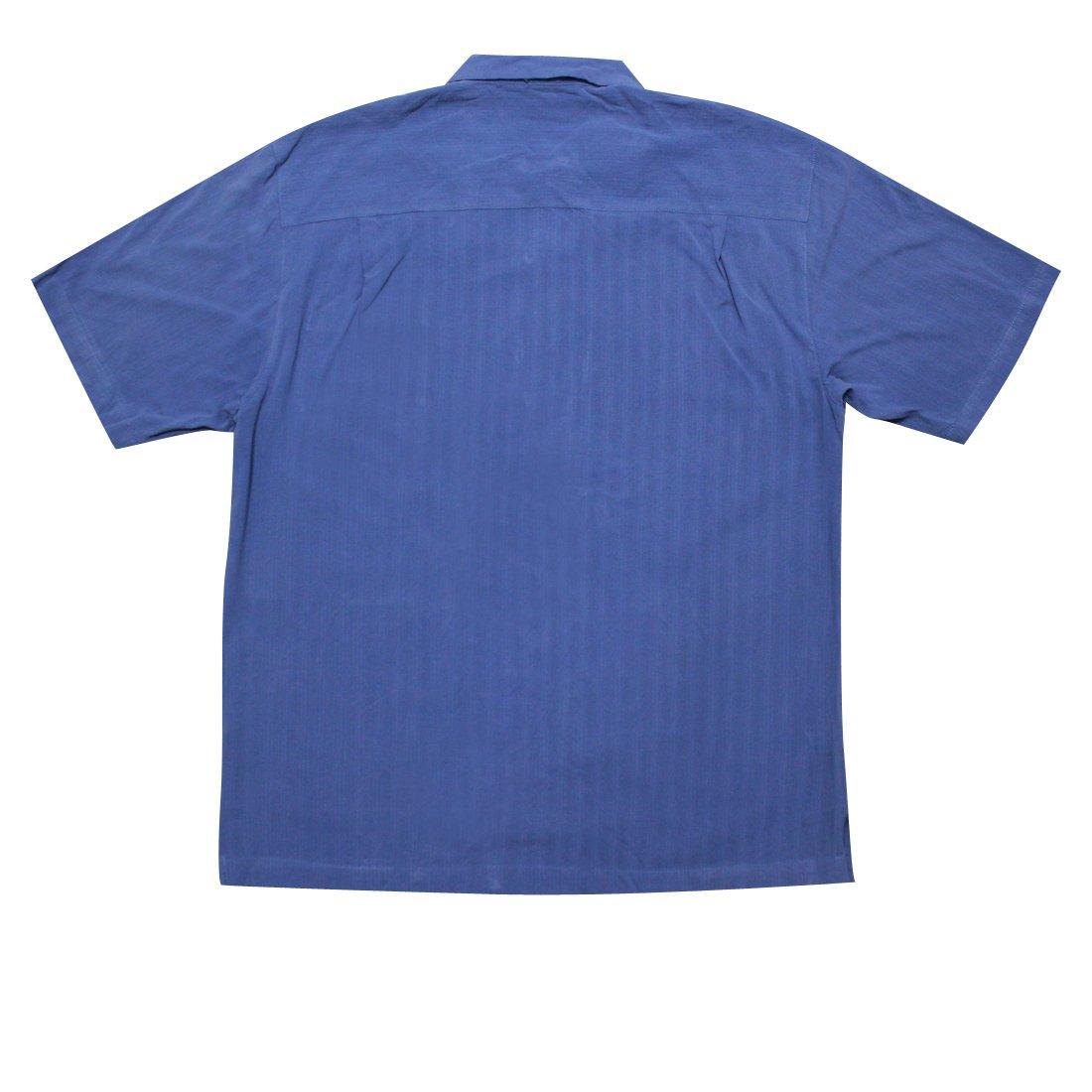 2ba52342 Tommy Bahama Big & Tall Mens Light Weight Silk, Summer Camp Shirt XXL Blue  at Amazon Men's Clothing store: