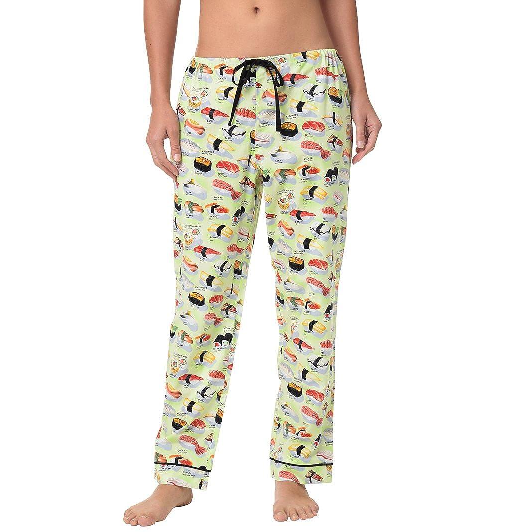 Wasabi Green Sushi Womens Cotton Pajama Pant at Amazon Womens Clothing store: Pajama Bottoms