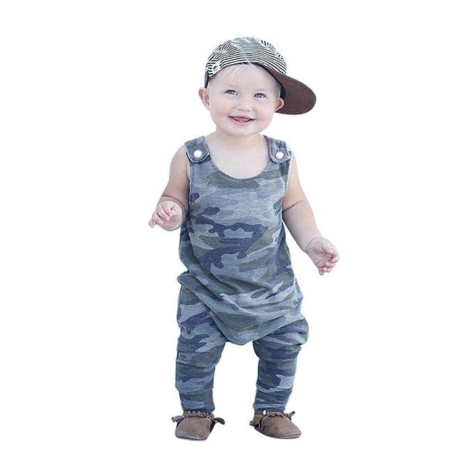 Amazon.com: Bebé Pelele, bebé niño sin mangas de moda ...
