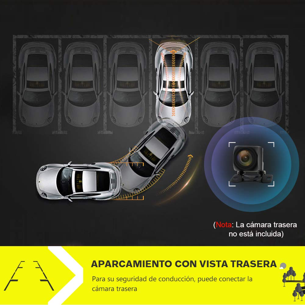 Plata Autoradio de Ford con Bluetooth//GPS//FM//RDS//CD DVD//USB//SD Mirrorlink y Aparcacimiento AWESAFE Radio Coche 7 Pulgadas para Ford con Pantalla T/áctil 2 DIN Admite Mandos Volante