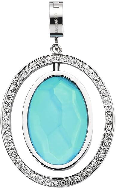 JEWELS BY LEONARDO Damen Anhänger & Anhängerclips Sonata Darlin's Edelstahl Glas klar silber blau turquoise 016545